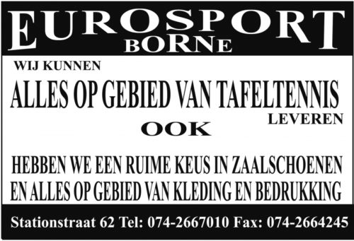 TTV Borne Advertentie Eurosport