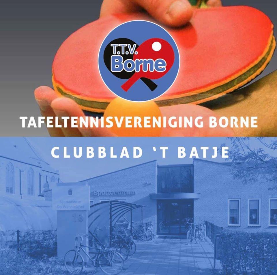 Voorpagina Clubblad 't Batje | TTV Borne | ttv-borne.nl